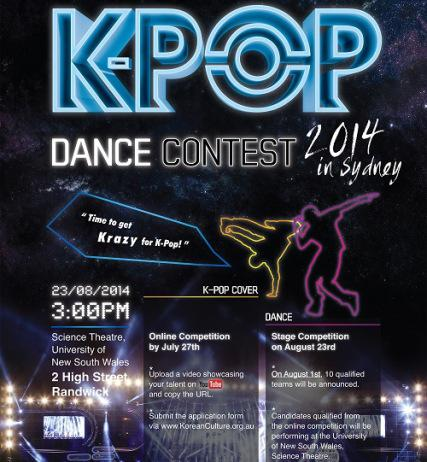 K-Pop Dance Contest to be held in Sydney 2014 | A Virtual ...